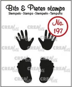 Crealies Stempel Bits & Pieces  baby Handjes en Voetjes