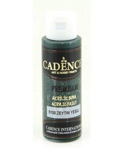 Cadence Premium Acrylverf Semi Mat 70ml Olijf Groen