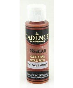 Cadence Premium Acrylverf Semi Mat 70ml Oxide Rood