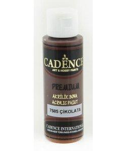 Cadence Premium Acrylverf Semi Mat 70ml Chocolade Bruin