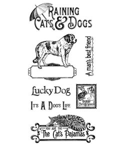 Graphic45 Cling stamp Cats & Dogs 1