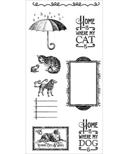 Graphic45 Cling stamp Cats&Dogs 3