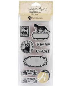 Graphic45 Cling stamp Cats&Dogs 2