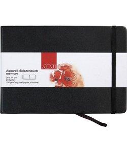 Ami Aquarel Schetsboek Memory 180g 14x20cm 28 pagina's