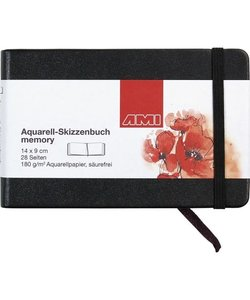 Ami Aquarel Schetsboek Memory 180g 9x14cm 28 pagina's