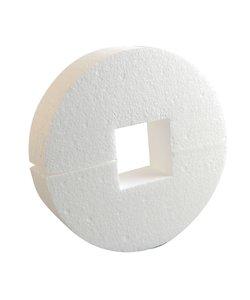Piepschuim cirkel met vierk. gat doorsnede 17,5cm