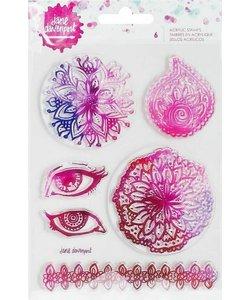 Jane Davenport Acrylic Clear Stamp Mandala