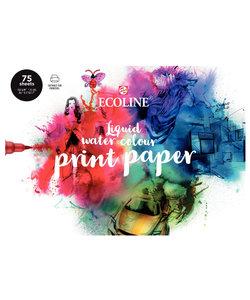 Talens Printable watercolour paper block A4 150gr. 75 vel