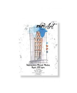 Papi Art Watercolor Mixed Media paper Bright white smooth 200 gr. 20 vel