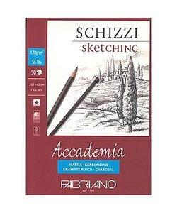 Fabriano Accademia Schizzi blok120 gram A4, 50 vel