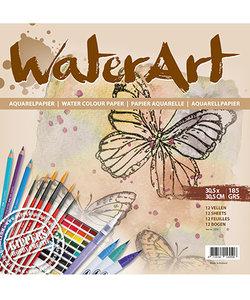 Kippers WaterArt Aquarel Papier 30,5x30,5cm 185g 12 st.