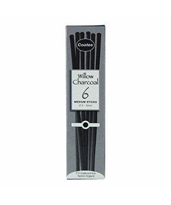 Coates Willow Charcoal Houtskool 6st 5-6mm