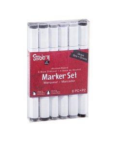 Studio 71 Alcohol marker set Greys 6 pcs