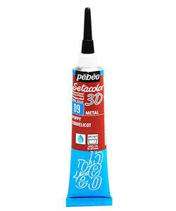 Pebeo Setacolor Textielverf 3D Liner 20ml Metallic Poppy Red nr. 09