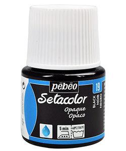 Pebeo Setacolor Textielverf Opaque 45ml Black nr. 19