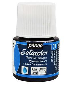 Pebeo Setacolor Textielverf Opaque Shimmer 45ml Jet Black nr. 79