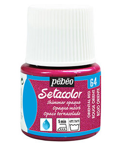 Pebeo Setacolor Textielverf Opaque Shimmer 45ml Oriental Red nr. 64