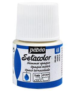 Pebeo Setacolor Textielverf Opaque Shimmer 45ml Pearl nr. 44