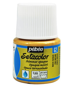 Pebeo Setacolor Textielverf Opaque Shimmer 45ml Rich Gold nr. 62
