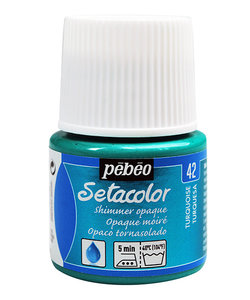 Pebeo Setacolor Textielverf Opaque Shimmer 45ml Turquoise nr. 42