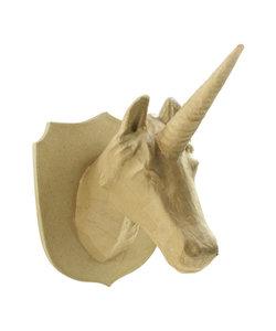 Decopatch papier mache eenhoorn, troph 31x25x35cm