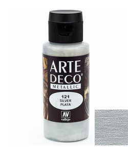 Arte Deco Acrylverf Metallic 60ml Silver