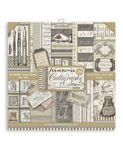 Stamperia Paper Pack 12x12'' Calligraphy