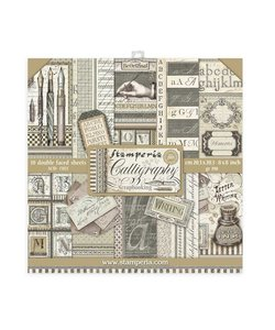Stamperia Paper Pack 8x8'' Calligraphy