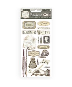 Stamperia Chipboard 15x30cm Calligraphy