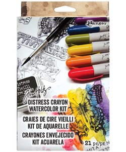 Ranger Distress Crayons Tim Holtz Watercolor Kit