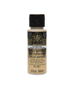 FolkArt Multi-Surface Glitter 59ml Chunky Gold