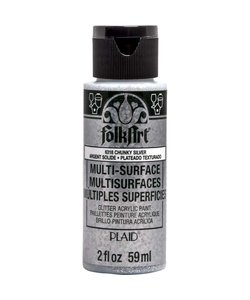 FolkArt Multi-Surface Glitter 59ml Chunky Silver