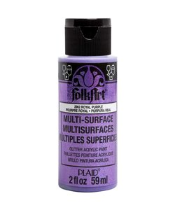 FolkArt Multi-Surface Glitter 59ml Royal Purple