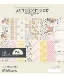 Authentique Paper Pad Swaddle Girl 6x6'' 24st