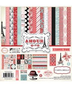 """Carta Bella12 x 12"""" paperkit """"Amour"""""""