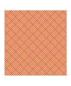 """Core' dinations patterned 12x12"""" orange plaid"""
