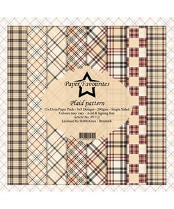 Dixi Craft paper pack 6x6 Plaid Pattern