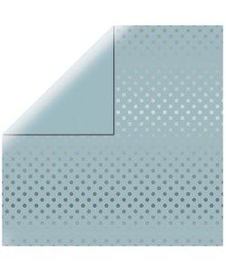 Echo Park Dots & Stripes Silver foil licht blauw