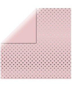 Echo Park Dots & Stripes Silver foil licht rose