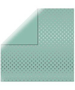 Echo Park Dots & Stripes Silver foil mint
