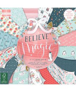 First Edition Paper Block Believe In Magic 12x12