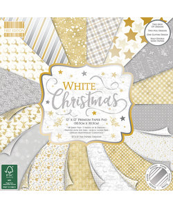 First Edition Paper Block White Christmas 12x12