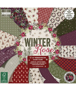 First Edition Paper Block Winter Rose 12x12