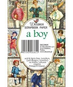 Stamperia Decorer Scrapbook paper a boy