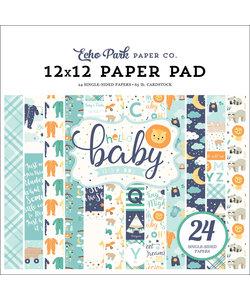 Echo Park Paper Pad 12x12'' Hello Baby Boy