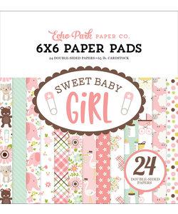 Echo Park Paper Pad 6x6'' Sweet Baby Girl