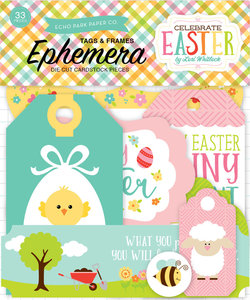 Echo Park Ephemera Die Cuts Cardstock Tags & Frames Celebrate Easter