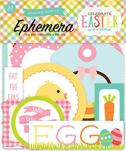 Echo Park Ephemera Die Cuts Cardstock Celebrate Easter