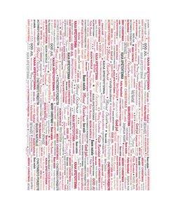 Vel Decopatch papier Tekst Vrolijk Kerstfeest verschillende talen