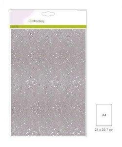 Craftemotions glitterpapier 5 vel A4 120gr wit